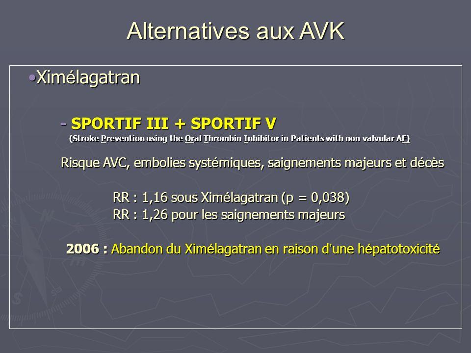 Xim é lagatranXim é lagatran - SPORTIF III + SPORTIF V - SPORTIF III + SPORTIF V (Stroke Prevention using the Oral Thrombin Inhibitor in Patients with