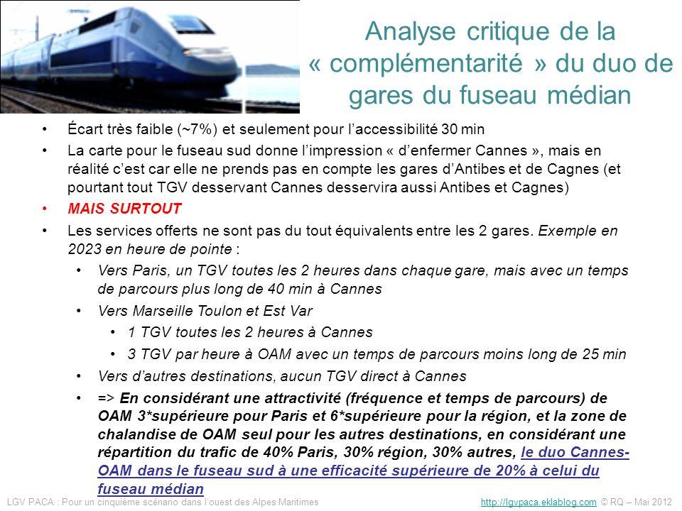 Quelle accessibilité de la gare TGV Ouest Alpes Maritimes en transport collectif .
