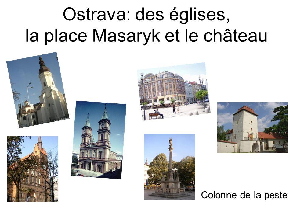 Ostrava: des églises, la place Masaryk et le château Colonne de la peste