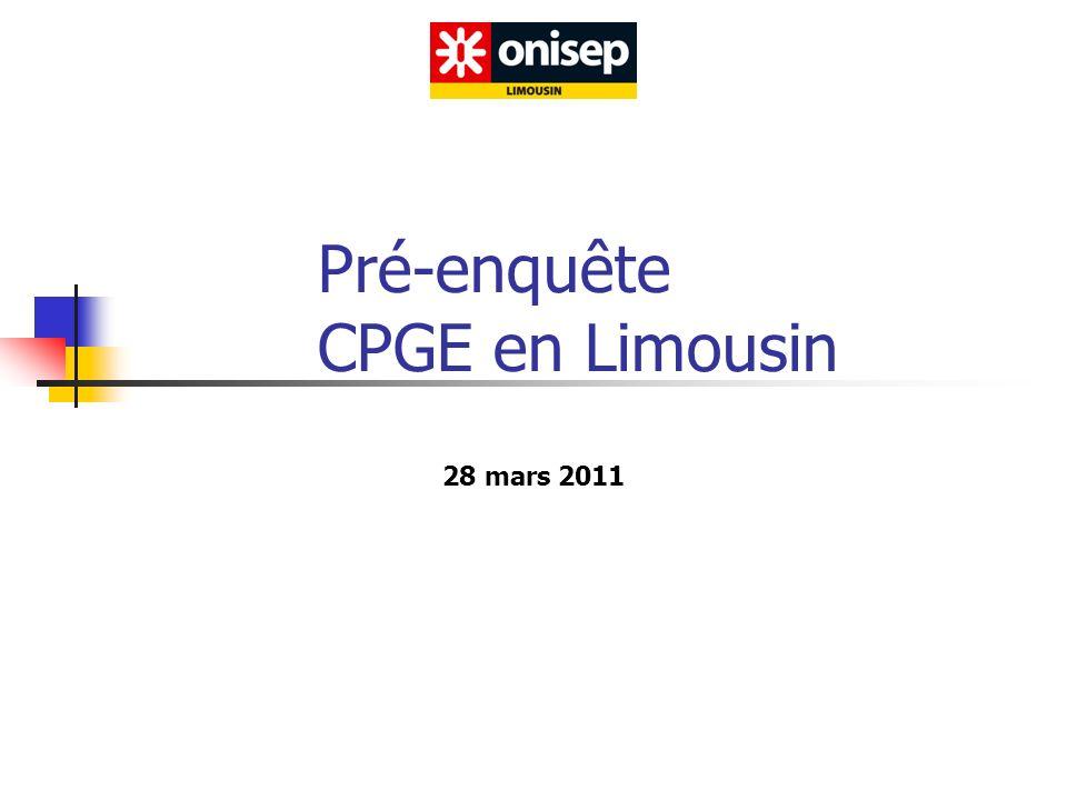 Pré-enquête CPGE en Limousin 28 mars 2011