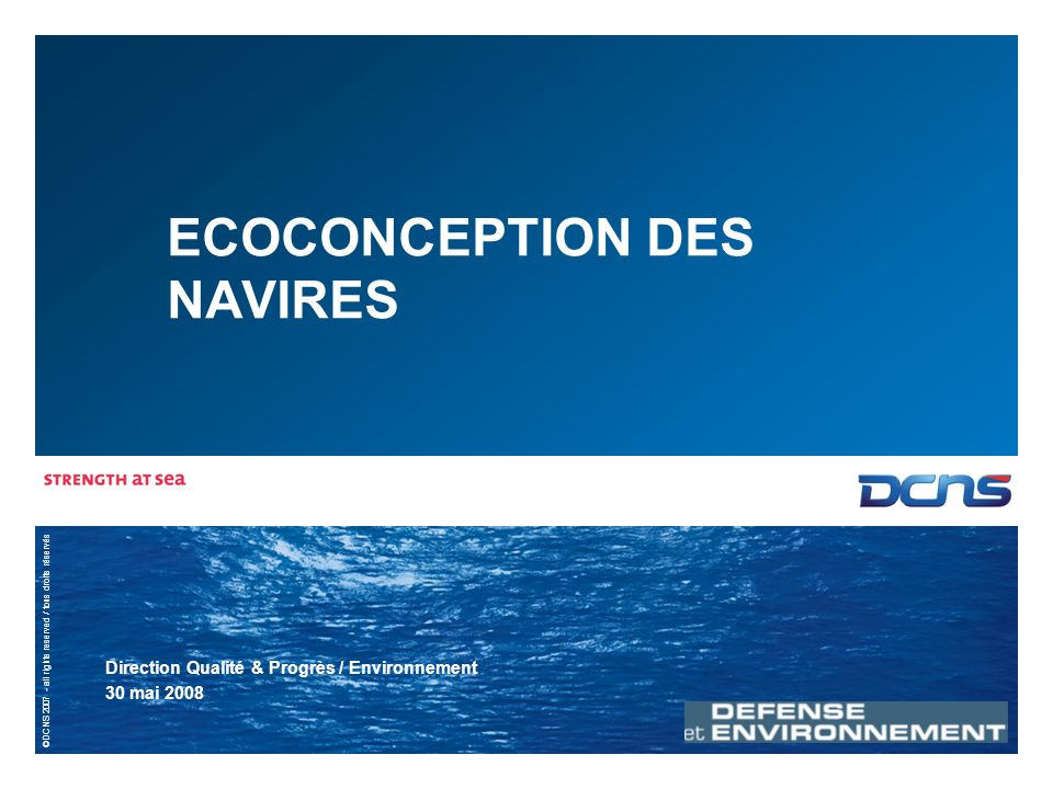 2 | 30 mail 2008 | ECOCONCEPTION DES NAVIRES Quest-ce que léco-conception .