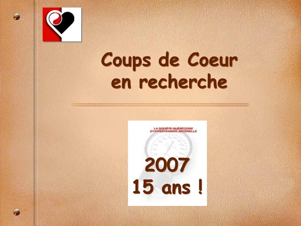 Coups de Coeur en recherche 2007 15 ans !