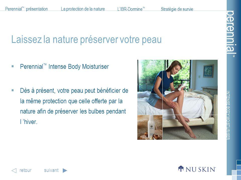 INTENSE BODY MOISTURISER Perennial : présentationLa protection de la nature LIBR-Dormine Stratégie de survie perennial retoursuivant Laissez la nature