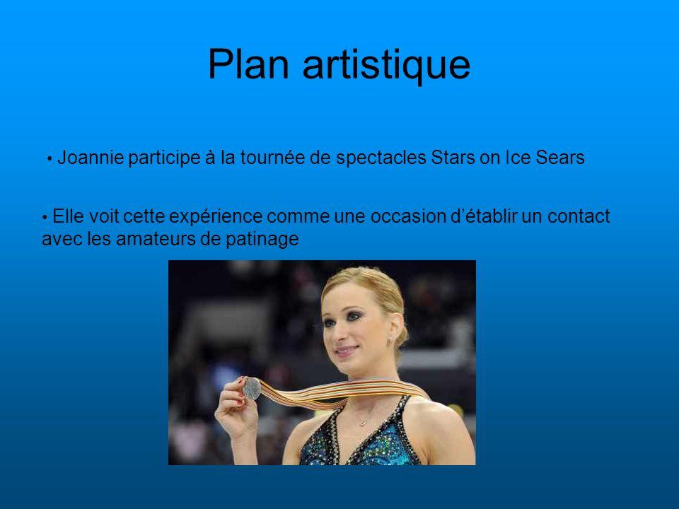 Plan artistique Elle voit cette expérience comme une occasion détablir un contact avec les amateurs de patinage Joannie participe à la tournée de spec