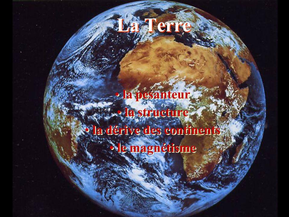 La Terre la pesanteur la structure la dérive des continents le magnétisme la pesanteur la structure la dérive des continents le magnétisme