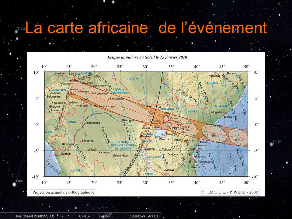 La carte africaine de lévénement