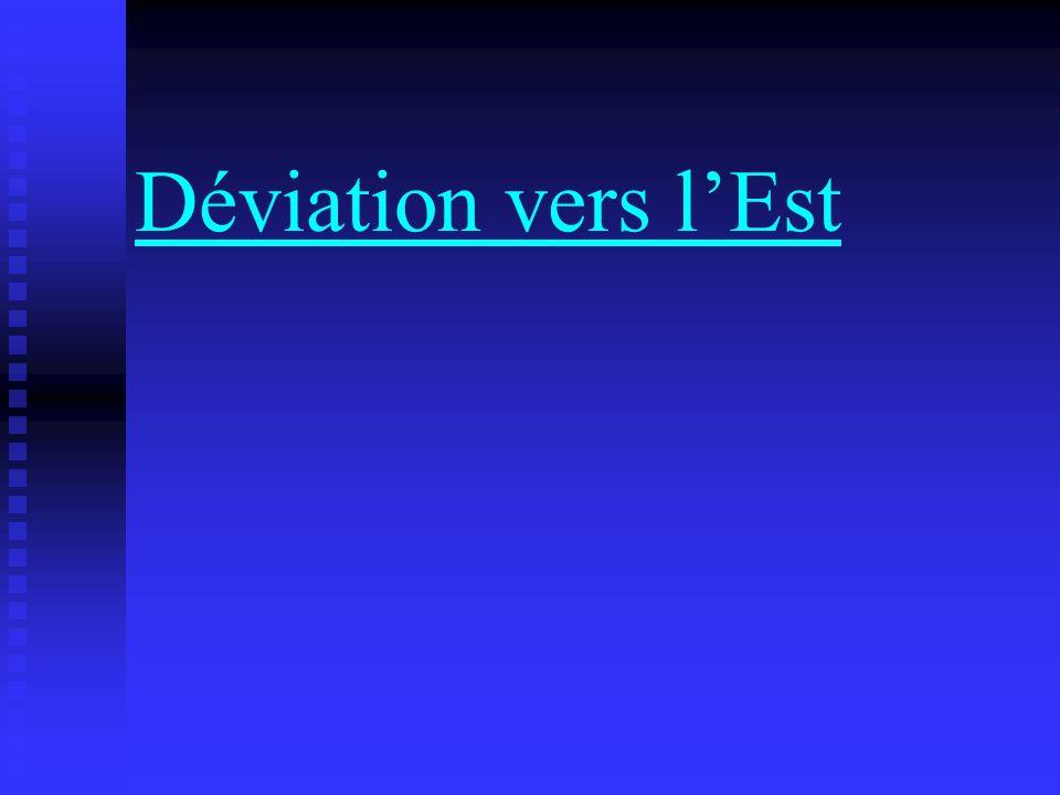 Déviation vers lEst