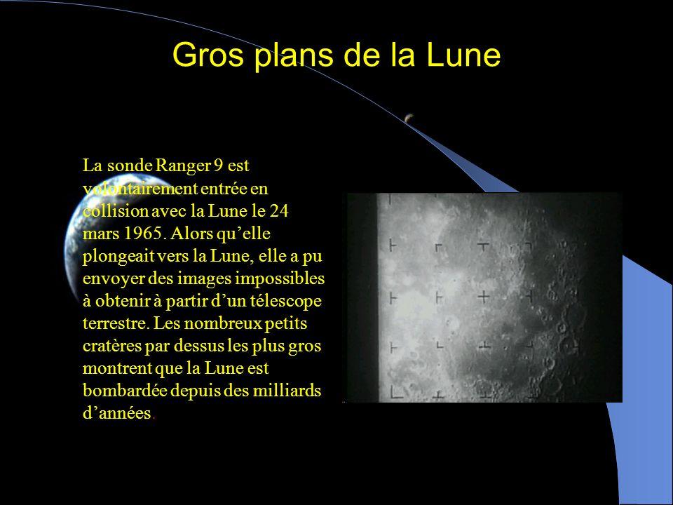 La face cachée de la Lune Cette image de la face cachée de la Lune a été prise par la sonde Galileo en route pour Jupiter. La face cachée possède plus