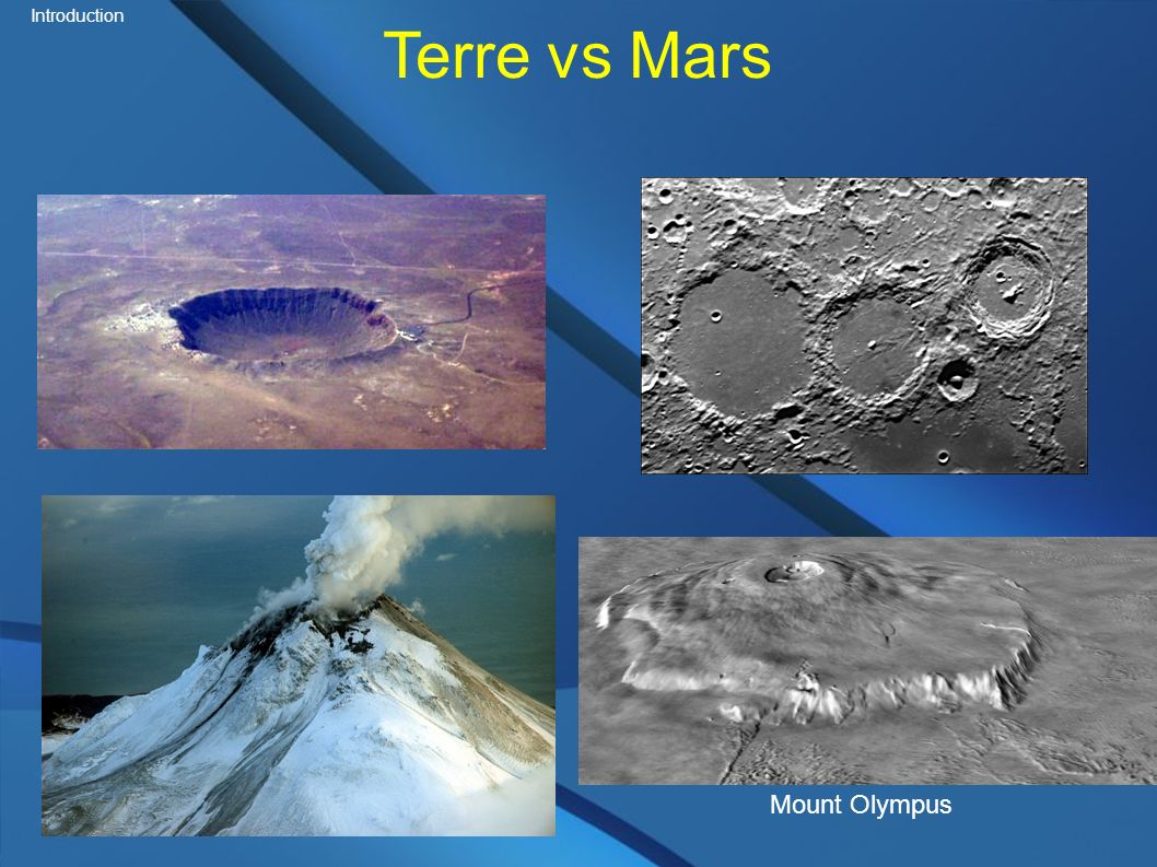 Terre vs Mars Mount Olympus Introduction