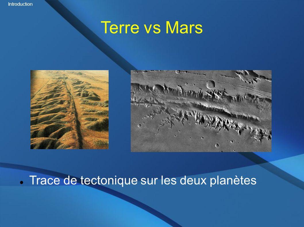 Terre vs Mars Trace de tectonique sur les deux planètes Introduction