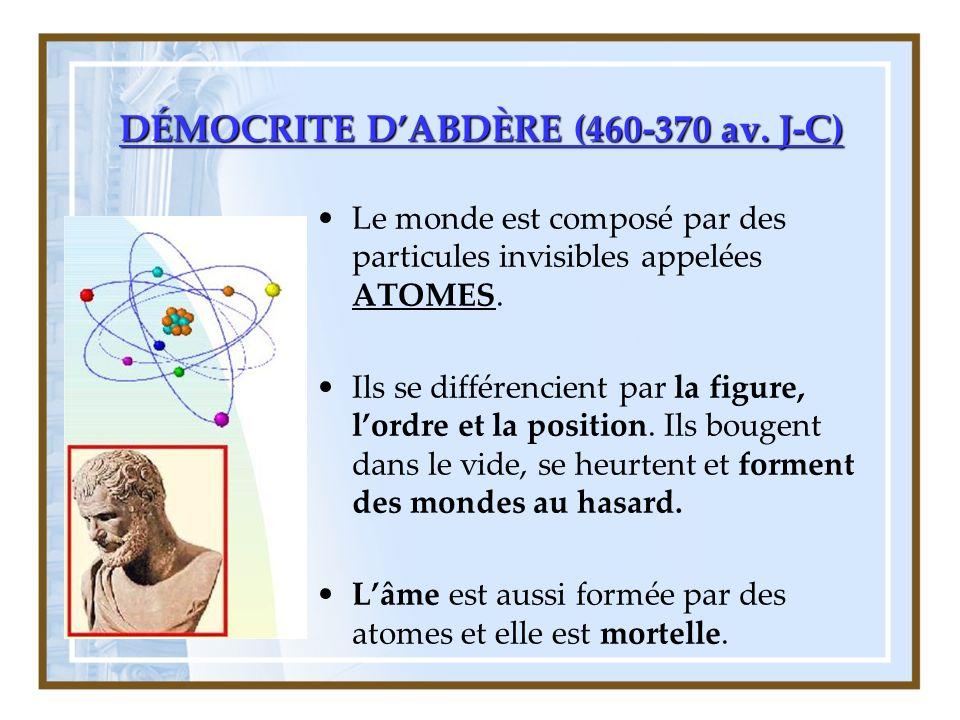 DÉMOCRITE DABDÈRE (460-370 av.