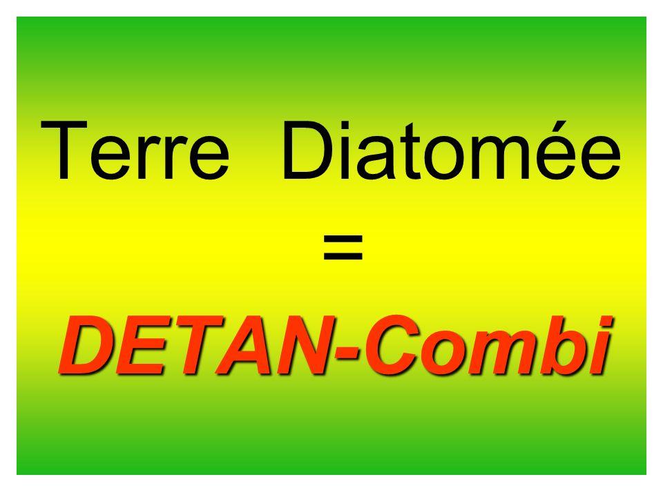 DETAN-Combi DETAN-Combi DETAN-Combi DETAN-Combi Les diatomées dans la TD DETAN-Combi sont composées de Silice amorphe et non de silice cristalline comme dans la plupart des autres produits TD.