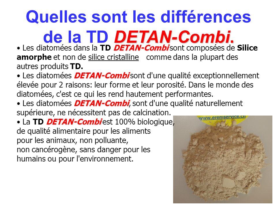 DETAN-Combi DETAN-Combi DETAN-Combi DETAN-Combi Les diatomées dans la TD DETAN-Combi sont composées de Silice amorphe et non de silice cristalline com