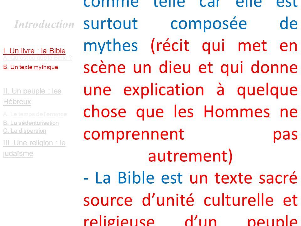Introduction I.Un livre : la Bible A. Quest ce que la Bible .