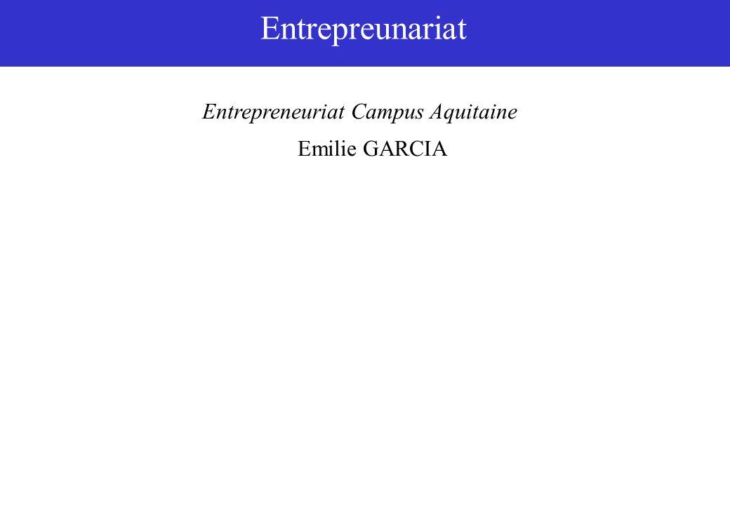 Entrepreunariat Entrepreneuriat Campus Aquitaine Emilie GARCIA