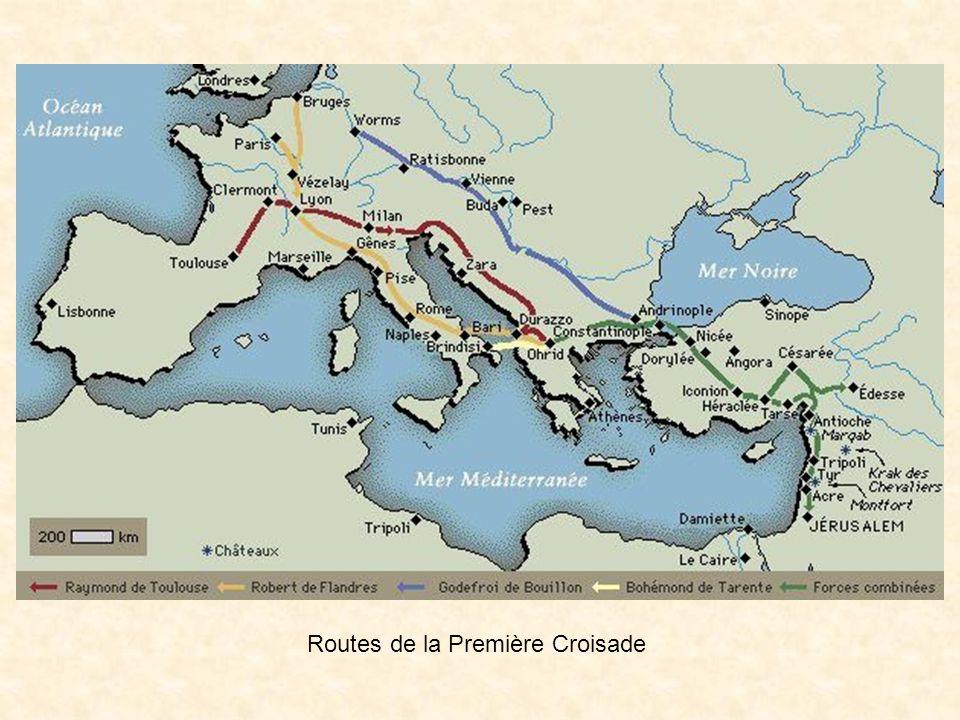 Le royaume de Godefroi de Bouillon Descendant de Charlemagne Le royaume de Godefroi de Bouillon était «le royaume franc de Jérusalem» Chef de ce royaume de 1099 à 1100 Ce royaume a duré près de cent ans