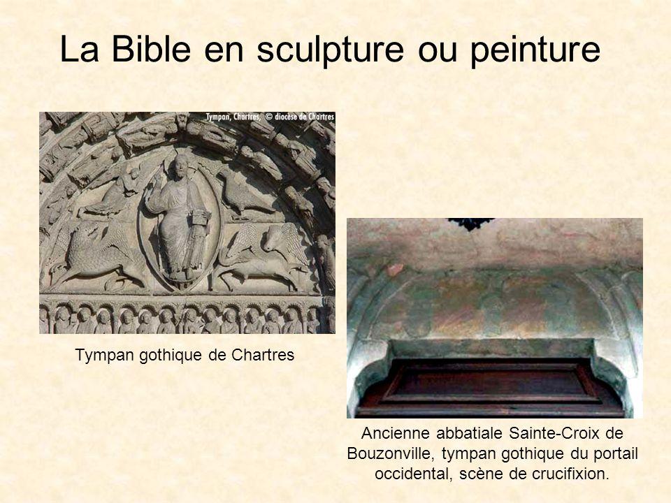 La Bible en sculpture ou peinture La cathédrale dAlbi