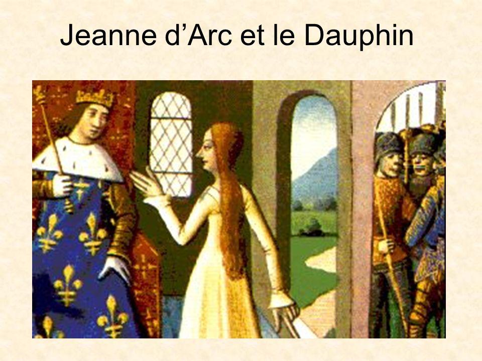 Jeanne dArc En 1428, les Anglais ont combattu les Français et ont gagné la partie nord de la France On a donné une armée à Jeanne Elle a mené une armée française et a libéré Orléans, que les Anglais assiégeaient, en 1429