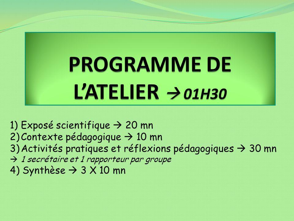 CONTEXTE PEDAGOGIQUE (1) Quels domaines dactivités et disciplines .