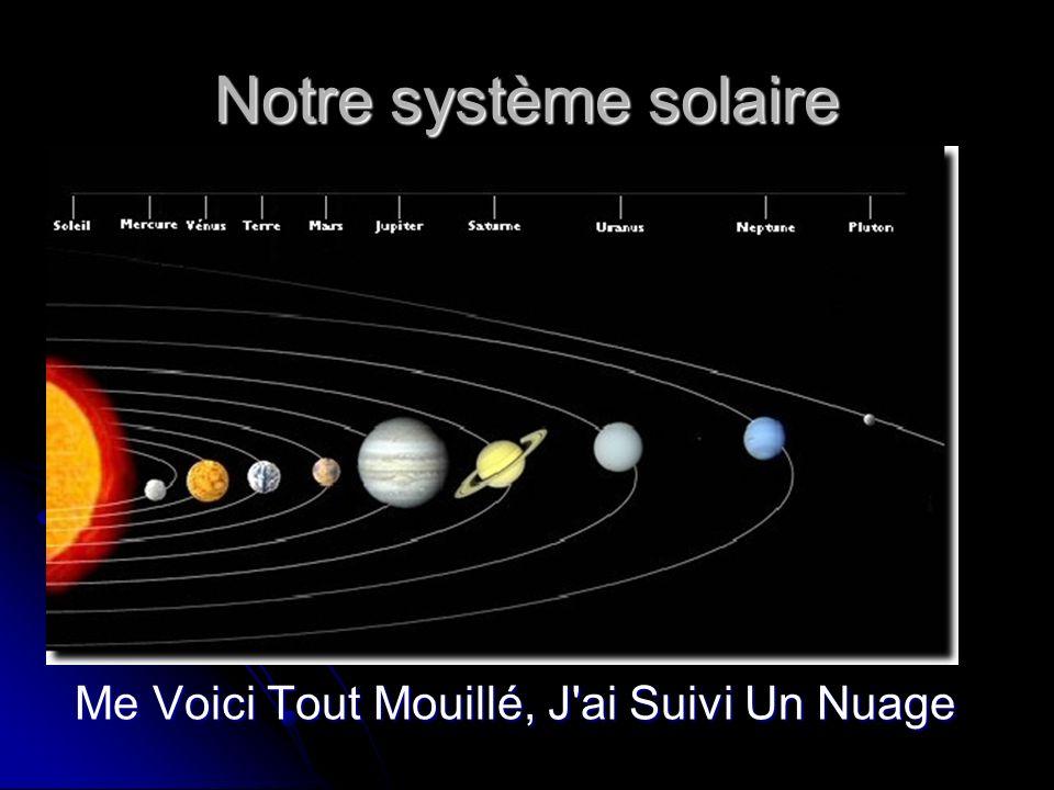 Notre étoile : le soleil Etoile au cœur de notre système Etoile au cœur de notre système représente 99% de la masse totale de notre système solaire représente 99% de la masse totale de notre système solaire est une immense boule de gaz en fusion est une immense boule de gaz en fusion la température y est de 15 millions de degrés la température y est de 15 millions de degrés