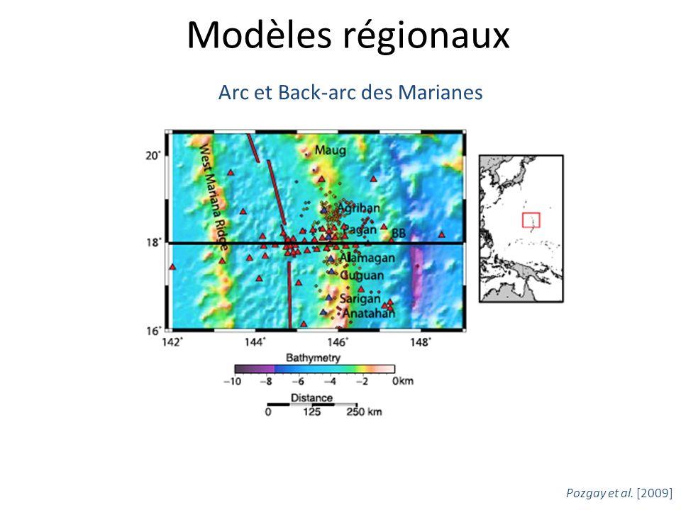 Modèles régionaux Pozgay et al. [2009] Arc et Back-arc des Marianes