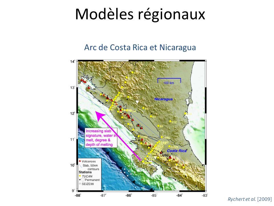 Modèles régionaux Arc de Costa Rica et Nicaragua Rychert et al. [2009]
