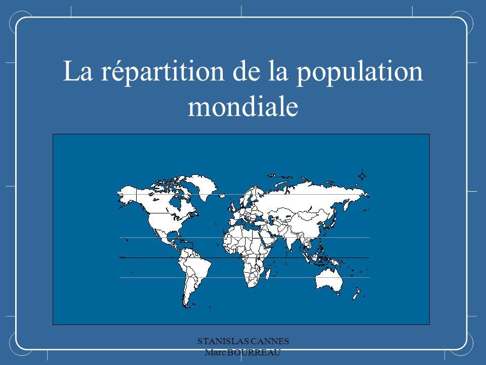 Annonce La répartition de la population mondiale STANISLAS CANNES Marc BOURREAU