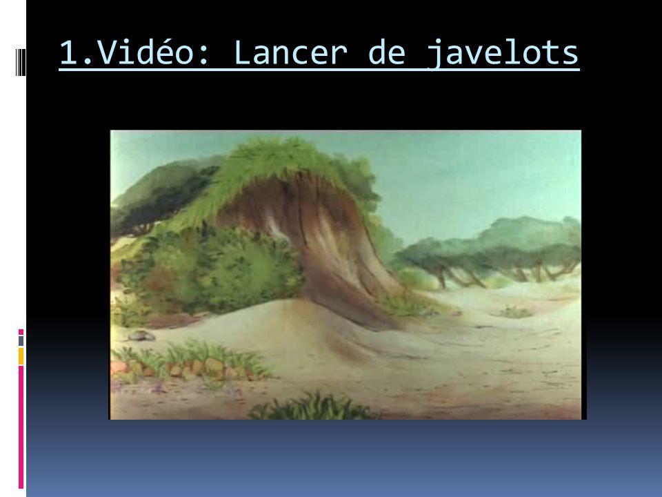 Trajectoires: Représenter la trajectoire de chaque javelot à laide dun dessin; les deux trajectoires seront représentées de couleurs différentes et partiront dun même bonhomme.