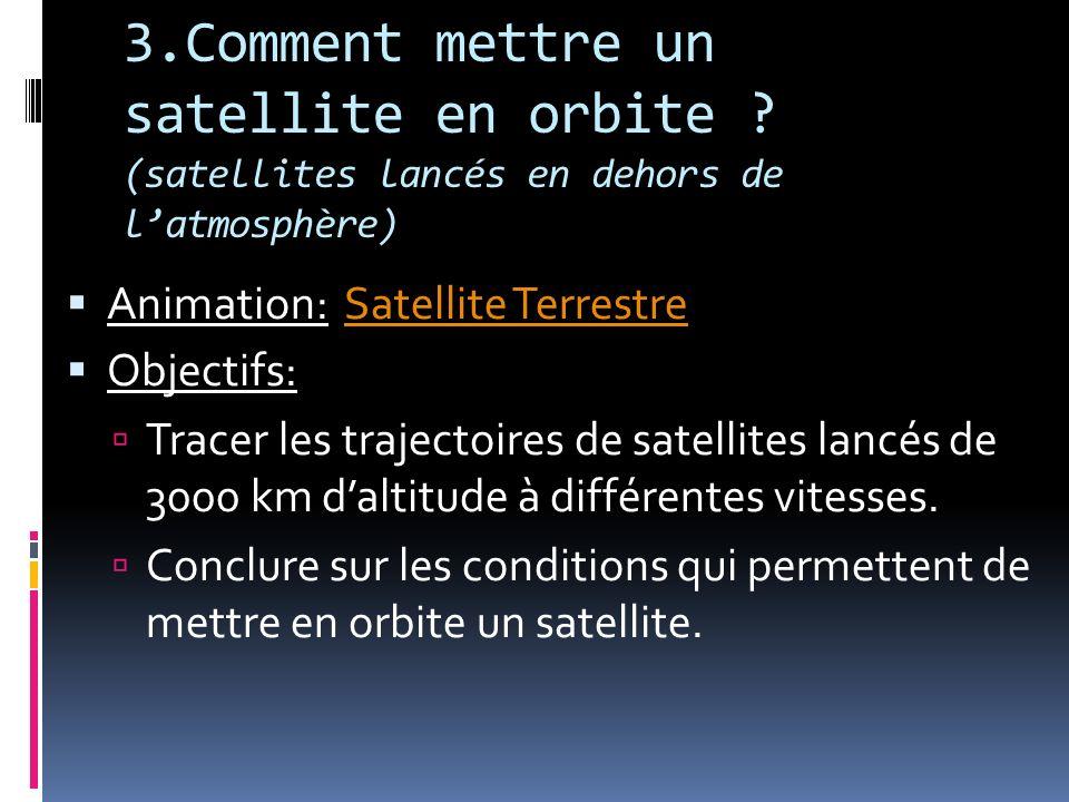 3.Comment mettre un satellite en orbite .
