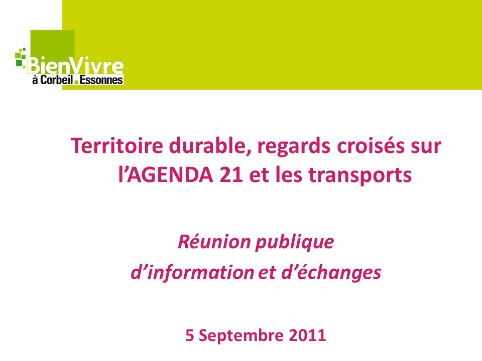Territoire durable, regards croisés sur lAGENDA 21 et les transports Réunion publique dinformation et déchanges 5 Septembre 2011