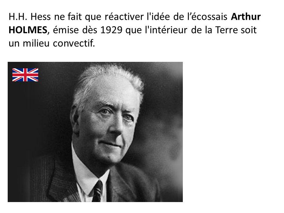 H.H. Hess ne fait que réactiver l'idée de lécossais Arthur HOLMES, émise dès 1929 que l'intérieur de la Terre soit un milieu convectif.