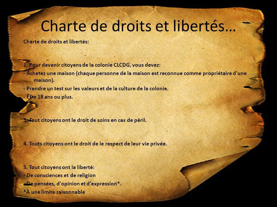 Charte de droits et libertés… Charte de droits et libertés: 1.