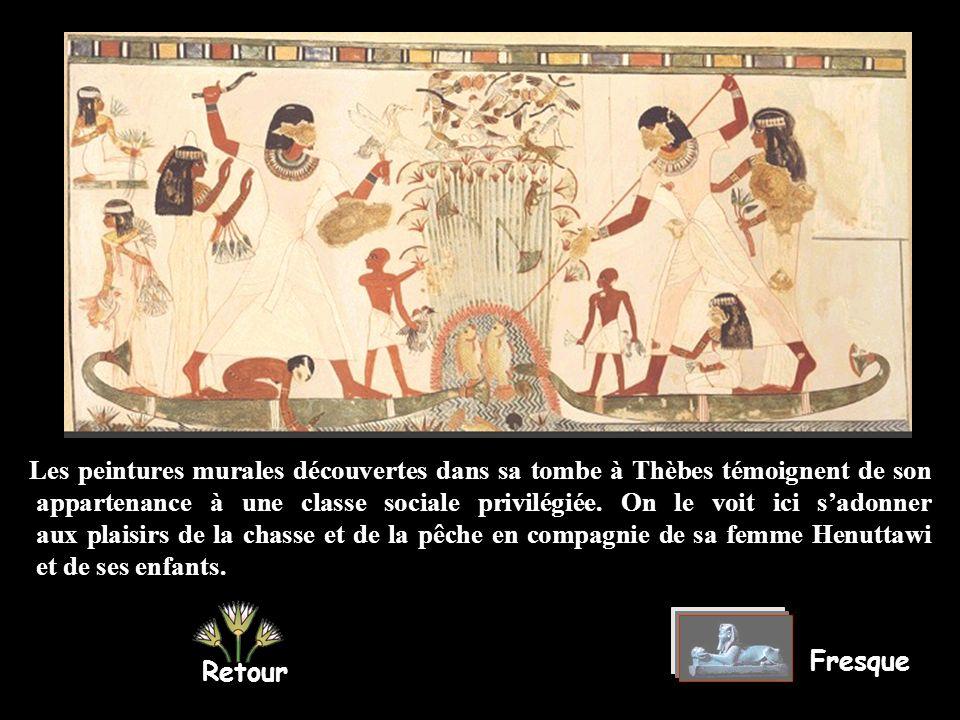 MENNA était un haut fonctionnaire chargé de la gestion des haut fonctionnairehaut fonctionnaire champs royaux à lépoque du pharaon Thoutmosis IV (fin du XIIIe s.