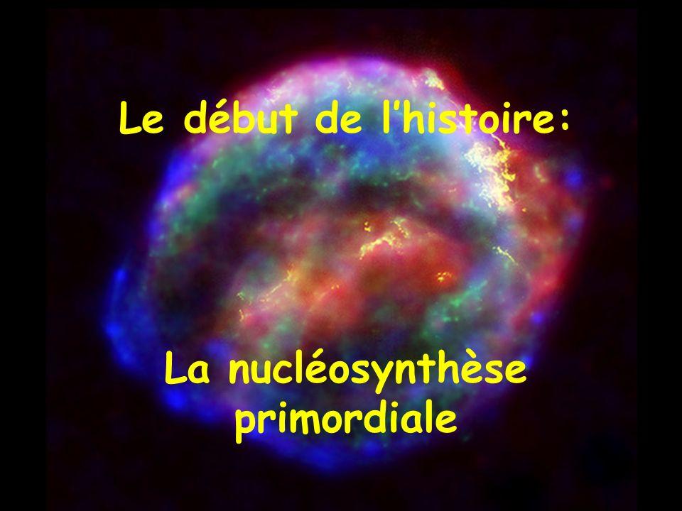 Le début de lhistoire: La nucléosynthèse primordiale