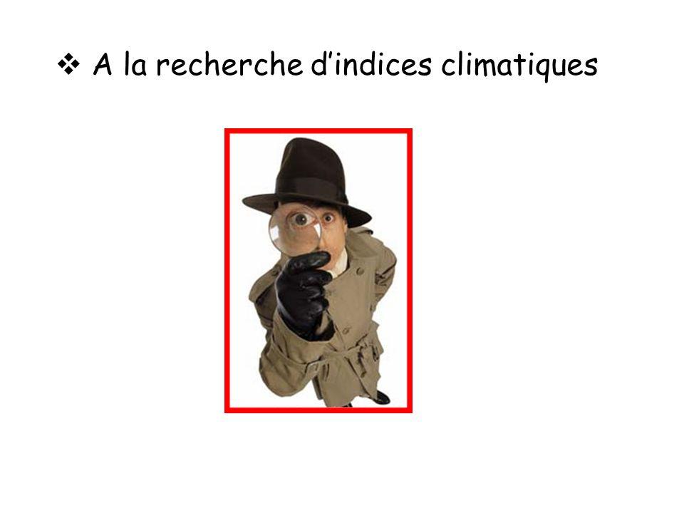 A la recherche dindices climatiques