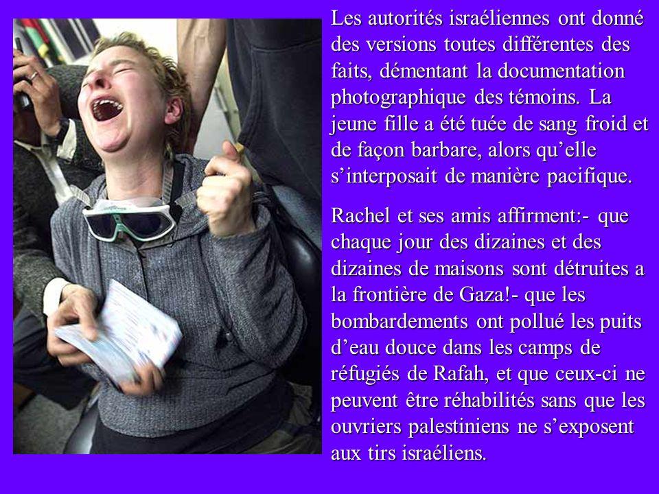 Rachel Corrie à seulement 23 ans a perdu la vie en défendant, avec son corps et ses idées, le droit des citoyens palestiniens à avoir un toit et une t