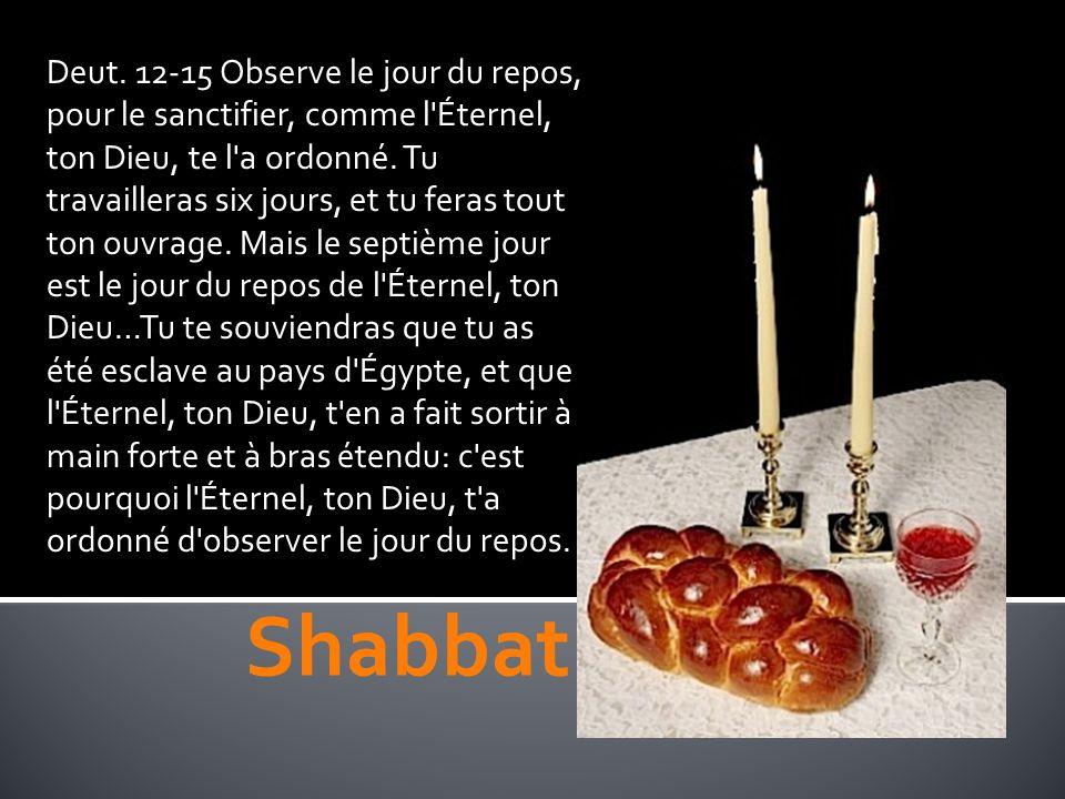 33 L Éternel parla à Moïse, et dit: 34 Parle aux enfants d Israël, et dis: Le quinzième jour de ce septième mois, ce sera la fête des tabernacles en l honneur de l Éternel, pendant sept jours.