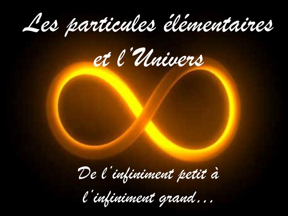 Les particules élémentaires et lUnivers De linfiniment petit à linfiniment grand…