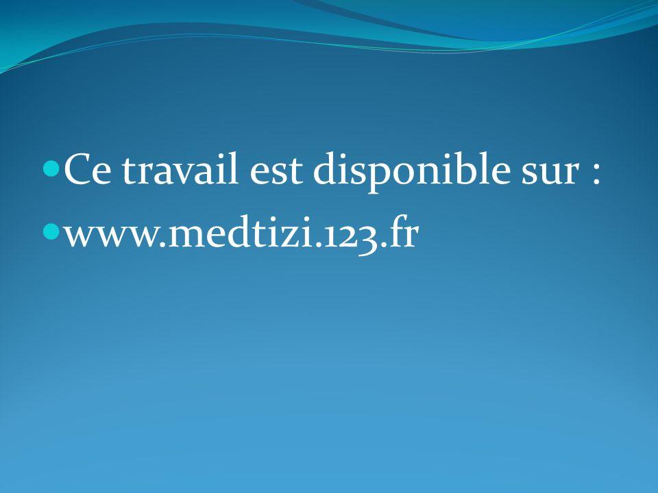 Ce travail est disponible sur : www.medtizi.123.fr