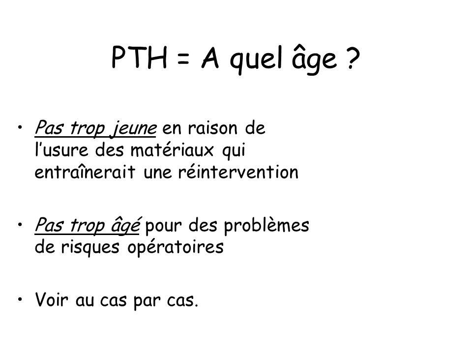 PTH = A quel âge .