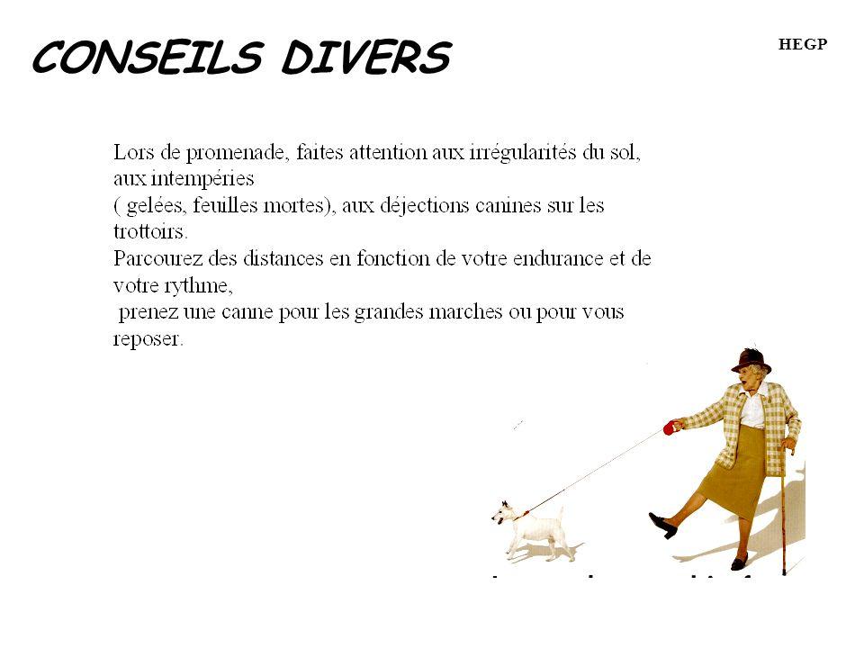 CONSEILS DIVERS