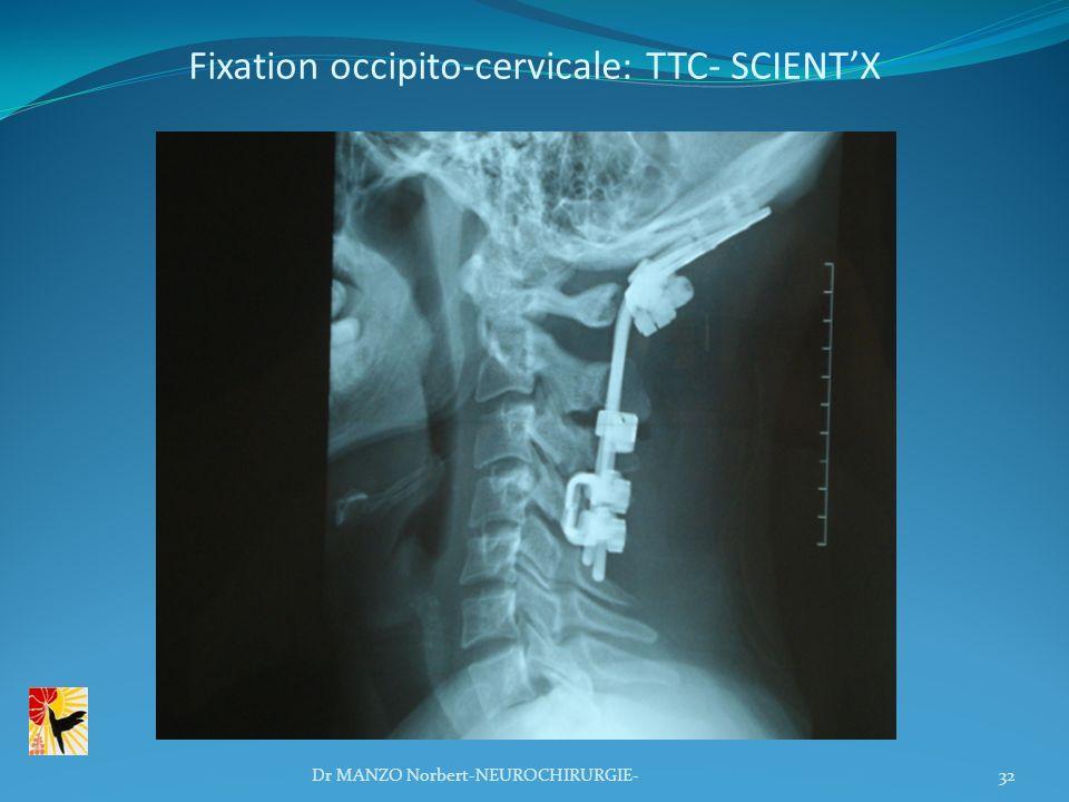 Fixation occipito-cervicale: TTC- SCIENTX 32Dr MANZO Norbert-NEUROCHIRURGIE-