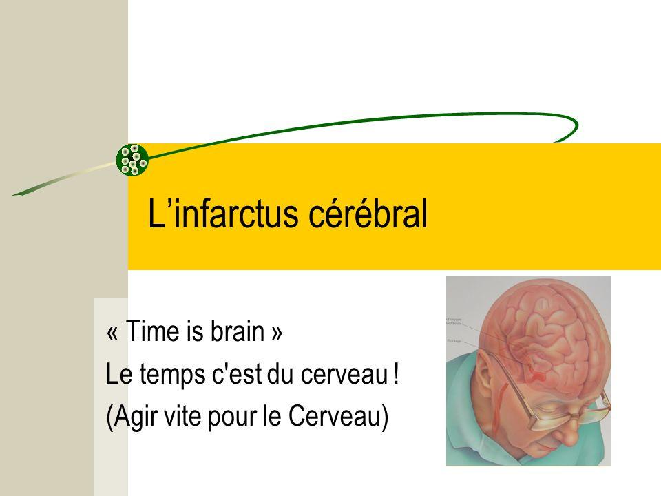 Linfarctus cérébral « Time is brain » Le temps c'est du cerveau ! (Agir vite pour le Cerveau)