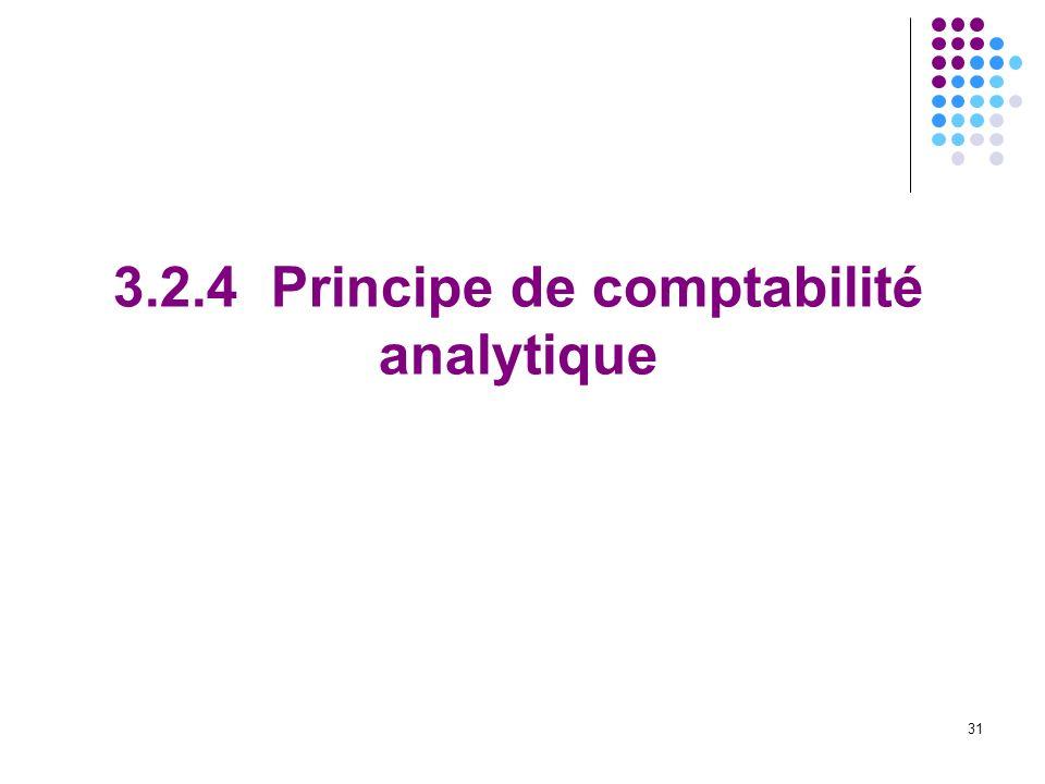 31 3.2.4 Principe de comptabilité analytique