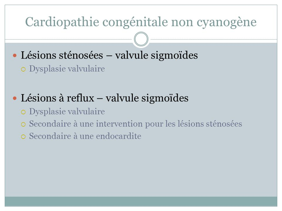 Cardiopathie congénitale cyanogène Flux sanguin pulmonaire réduit