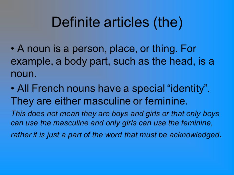 All 4 definite articles mean the in English.