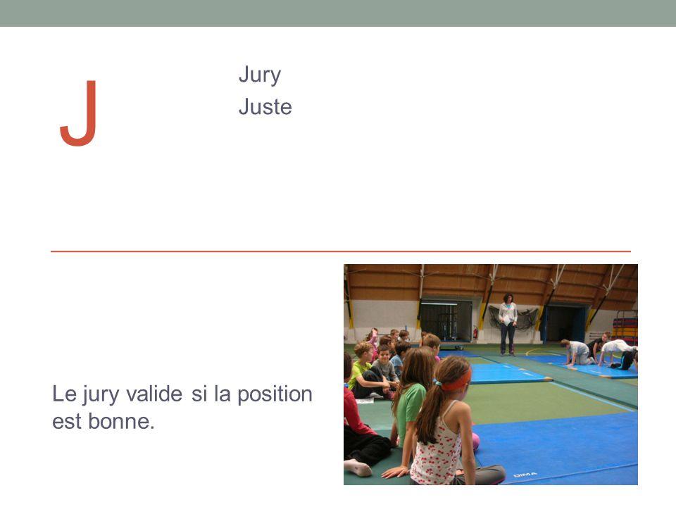 J Jury Juste Le jury valide si la position est bonne.