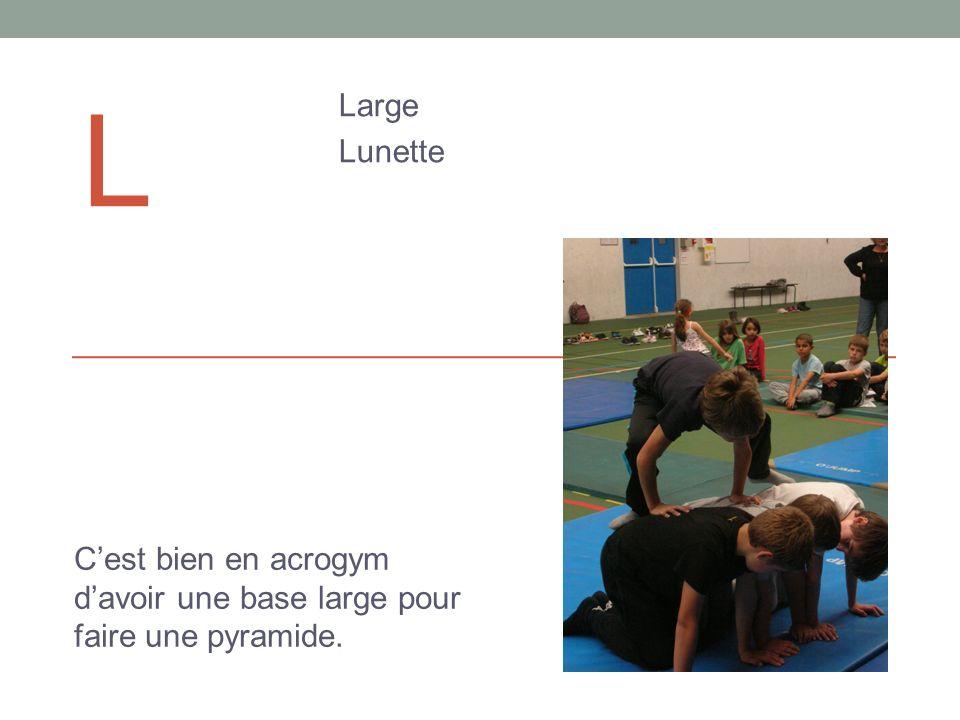 L Large Lunette Cest bien en acrogym davoir une base large pour faire une pyramide.