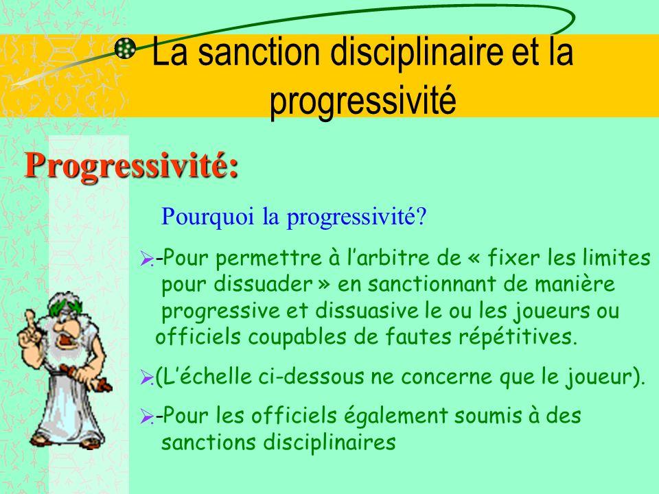 La sanction disciplinaire et la progressivité Progressivité: Pourquoi la progressivité.