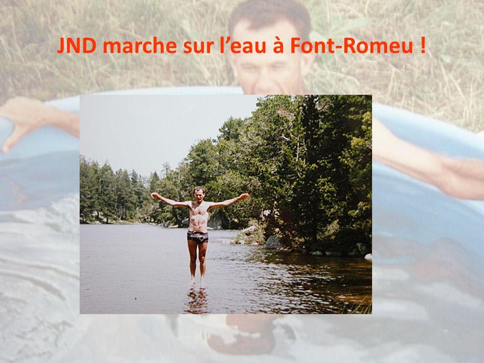 JND marche sur leau à Font-Romeu !